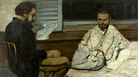 Paul Alexis Reading to Emile Zola, by Paul Cézanne [Public domain], via Wikimedia Commons
