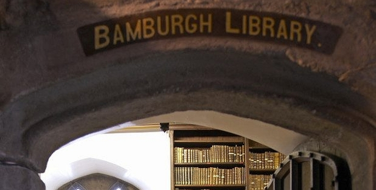 Entrance to the Bamburgh Library.